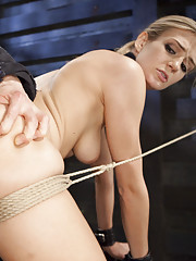 Beautiful Amanda Tate improves her submissive skills, she is made to endure manual labor, hard core sloppy blowjobs and predicament doggie fuck