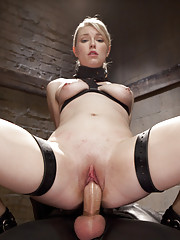 Hot blonde newbie anal slut made to do the horrible hundred pushups, zipper from hell, killers cowgirl and balls deep anal fuck