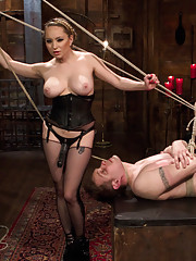 Armory tour guide busted by dominatrix for being a pussy hound gets extreme chastity, punishment and humiliation.